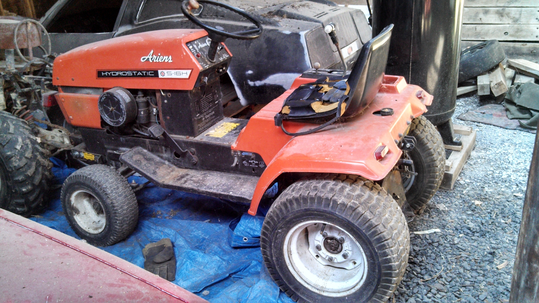 Used Ford Lawn Tractor : Ford lawn mower grave yard equipment used tractor